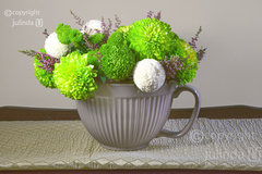 CHIC JUG OF LIME FLOWERS